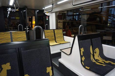 Interiér nové tramvaje pro Drážďany. Foto: FB saského ministerstva hospodářství, práce a dopravy