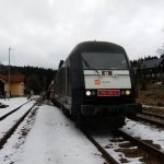 Lokomotiva Siemens ER20 v majetku CityRail v čele mimořádného vlaku z Prahy do Kubovy Hutě. Foto: CityRail