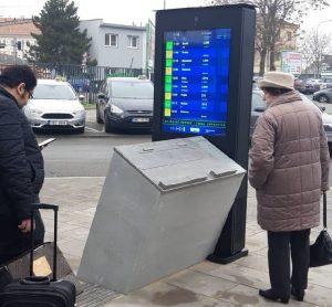 Autobusové nádraží Brno, Benešova. Infopoint. Pramen: DPMB