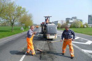 Oprava silnice v Kutné Hoře. Foto: Krajská správa a údržba silnic Středočeského kraje