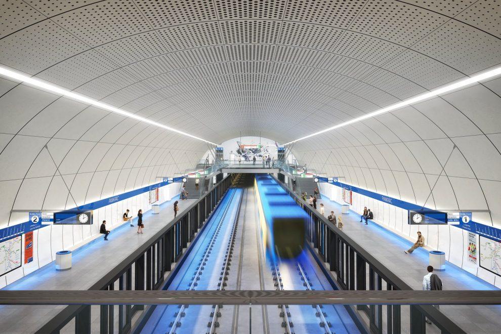 Upravený návrh stanice Pankrác. Pramen: IPR Praha