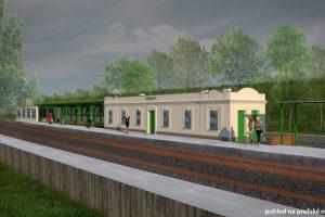 Vizualizace zastávky Všenory po rekonstrukci