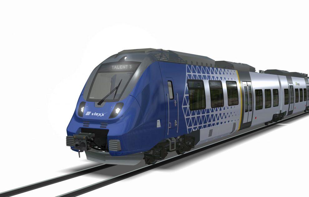 Vizualizace elektrických jednotek Bombardier Talent 3 pro vlexx. Foto: Bombardier