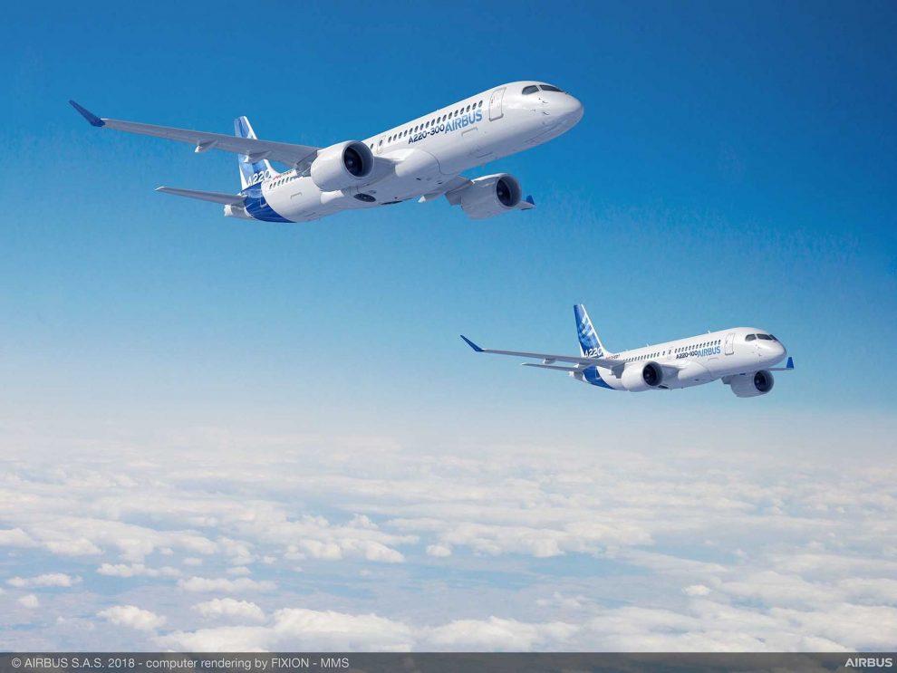 Airbus A220-100 a Airbus A220-300. Foto: Airbus
