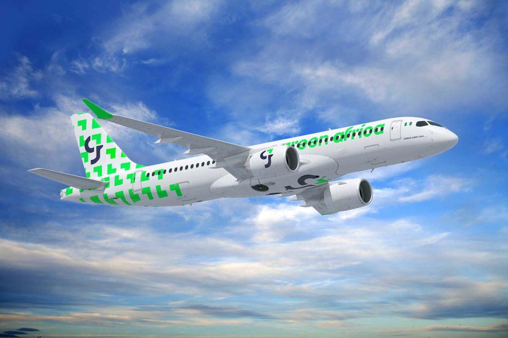 Airbus A220 v barvách Green Africa Airways. Foto: Airbus