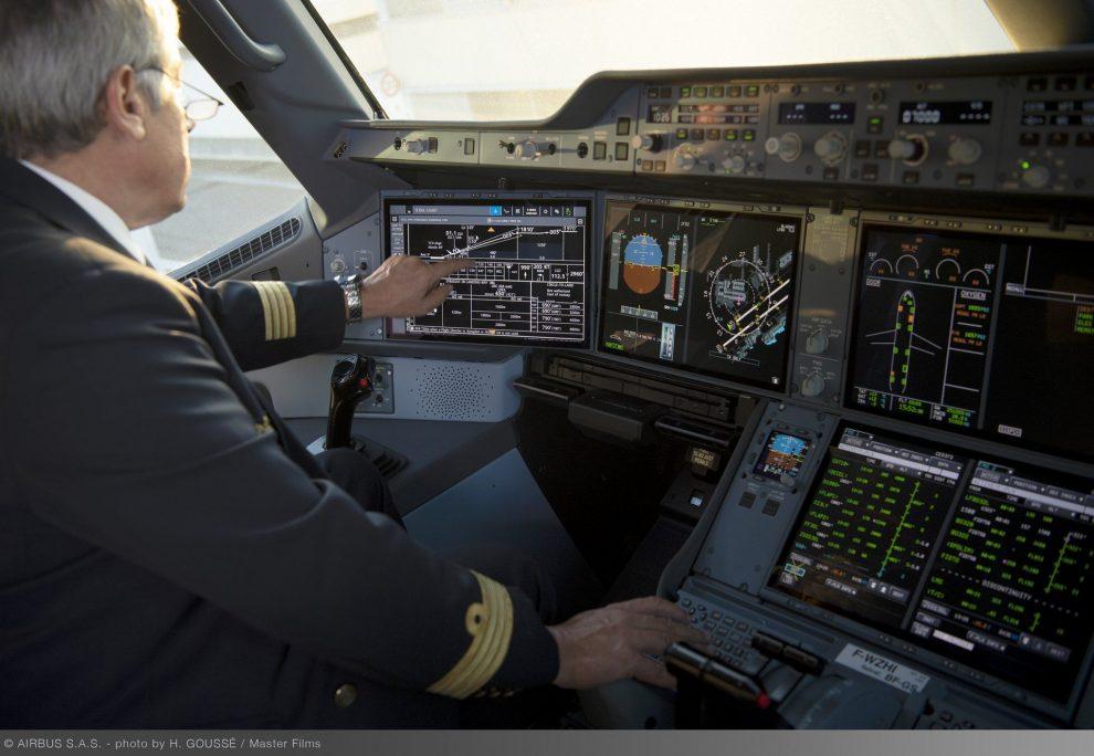 Kokpit v A350. Foto: Airbus