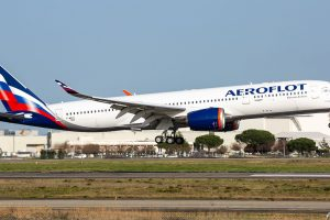 A350-900 v barvách Aeroflotu. Foto: @frenchpainter/twitter.com
