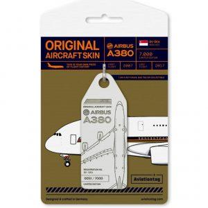 Tag z prvního vyřazeného A380