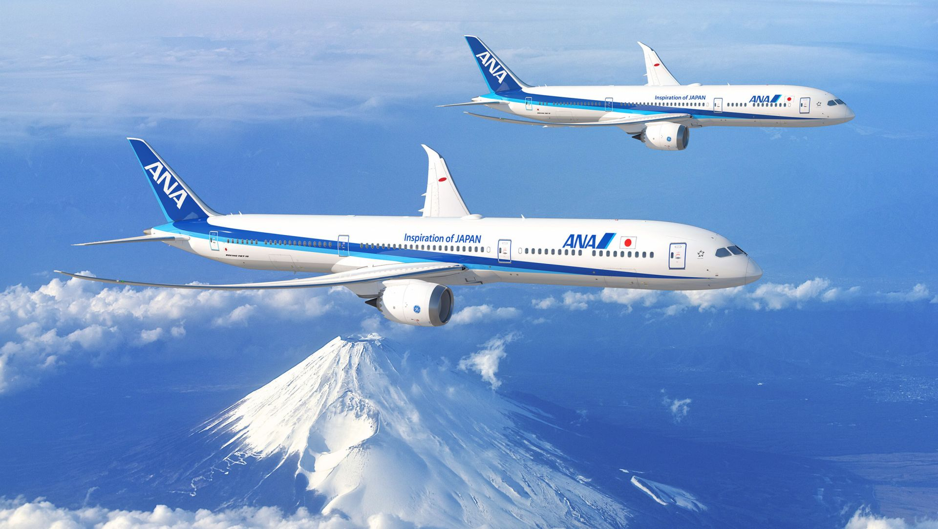 Boeing 787-9 a 787-10 v barvách ANA. Foto: Boeing