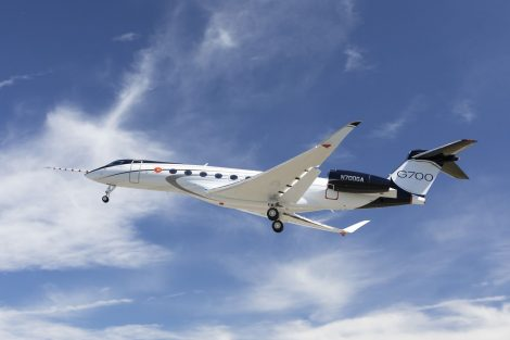 První let G700. Foto: Gulfstream