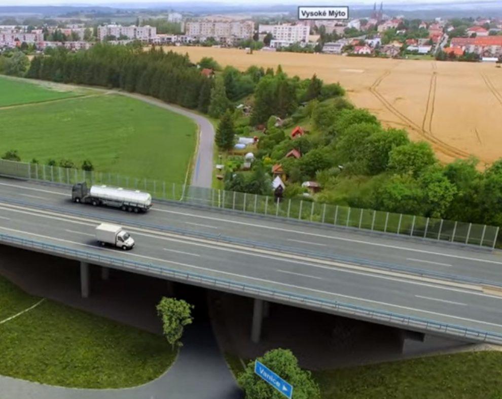 Vizualizace úseku D35 Vysoké Mýto - Džbánov. Foto: ŘSD