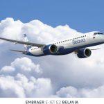 Embraer E195 E-2 v barvách Belavie. Foto: Belavia