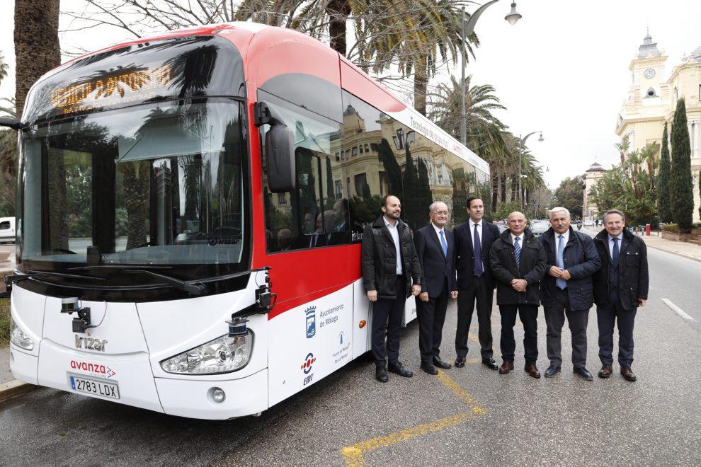 Autonomní elektrobus Irizar pro Malagu. Pramen: Irizar