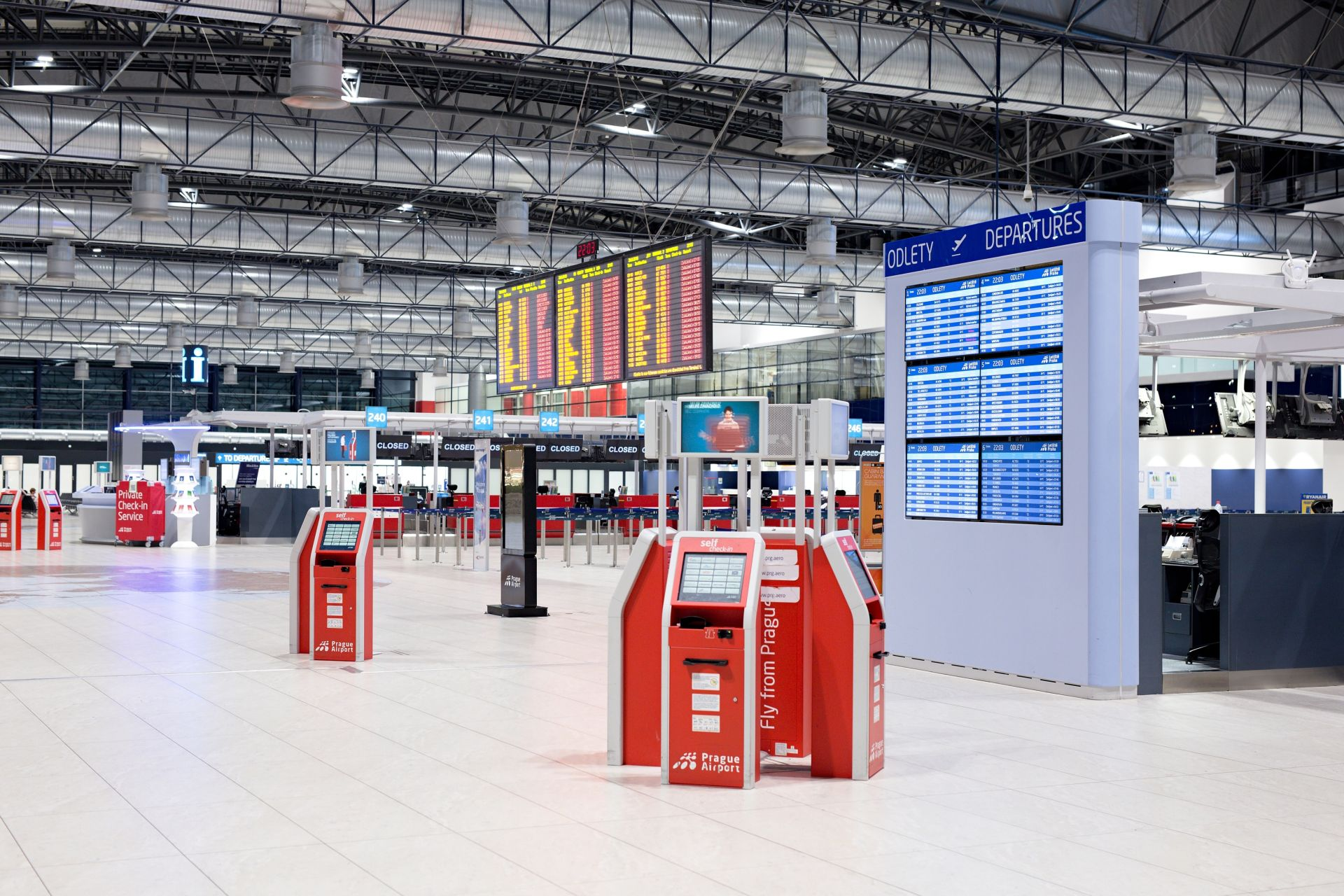 Odletová hala Terminálu 2. Foto: Letiště Praha