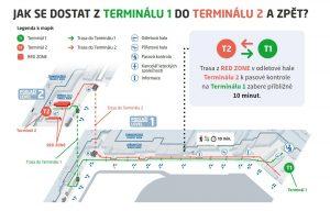Mapa uspořádání odbavení na Letišti Praha během rekonstrukce třídírny zavazadel. Foto: Letiště Praha