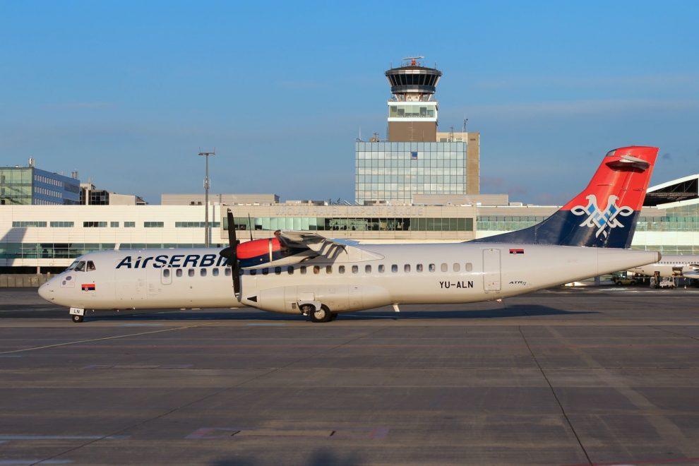 ATR 72 společnosti Air Serbia. Foto: Letiště Praha