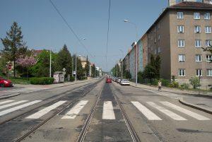 Merhautova ulice, Brno. Autor: Kirk / CC BY-SA (https://creativecommons.org/licenses/by-sa/3.0)