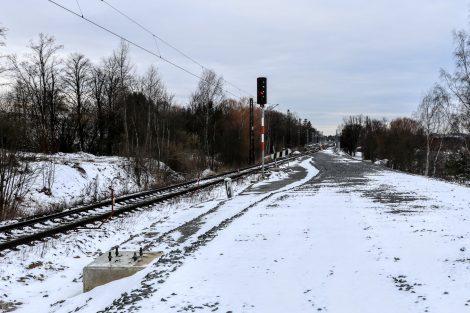 Pohled směrem k Sudoměřicím – místo, kde se sejde nově budovaná dopravní cesta s tou původní. Autor: Správa železnic