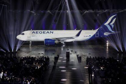 Nový A320 pro Aegean Airlines. Foto: Aegean