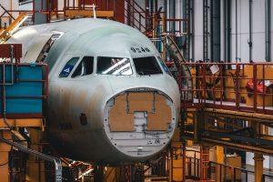 Výroba nového A320neo pro Swiss. Foto: Swiss