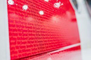 Jména zaměstnanců Delta Air Lines na trupu A321. Foto: John Paul Van Wert for Rank Studios