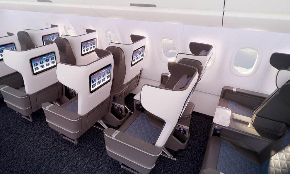 První třída v A321neo u Delta Air Lines. Foto: Delta