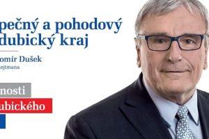 Jaromír Dušek ve volební kampani v roce 2016. Foto: Facebook Jaromíra Duška