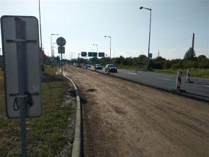 Oprava silnice I/16 u Mladé Boleslavi v roce 2018. Foto: Magistrát města Mladé Boleslavi