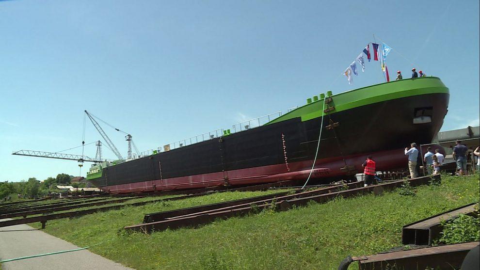 Kasko nizozemského tankeru z české loděnice Barkmet. Pramen: Barkmet