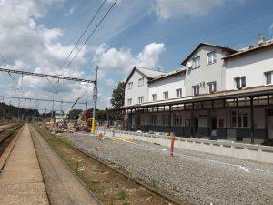 Rekonstrukce železniční stanice Letohrad. Foto: Správa železnic