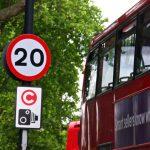 Značka Maximální dovolená rychlost 20 mil za hodinu. Foto: ETCS.eu