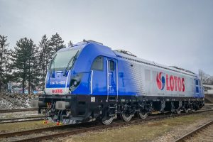 Lokomotiva polského dopravce Lotos Kolej. Pramen: Lotos Kolej