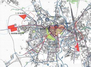 Lokality pro umístění nové vozovny MHD v Olomouci. Foto: Olomouc.eu
