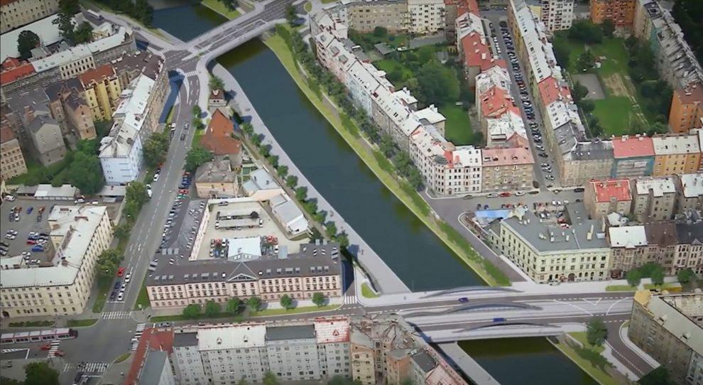 Vizualizace mostu přes řeku Moravu na Masarykově třídě v Olomouci. Foto: Olomouc