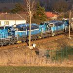 Testovací jízda pěti spojených lokomotiv. Autor: Dalibor Palko
