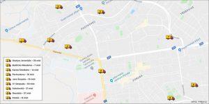 Mapa ploch pro parkování dodávek. Foto: Městský obvod Poruba