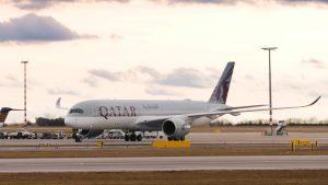 Airbus A350-900 společnosti Qatar Airways poprvé přistál v Praze. Foto: Flyrosta.com
