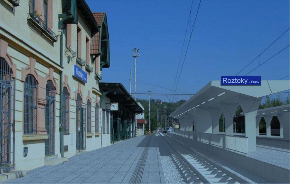 Vizualizace stanice Roztoky u Prahy po modernizaci. Foto: Správa železnic