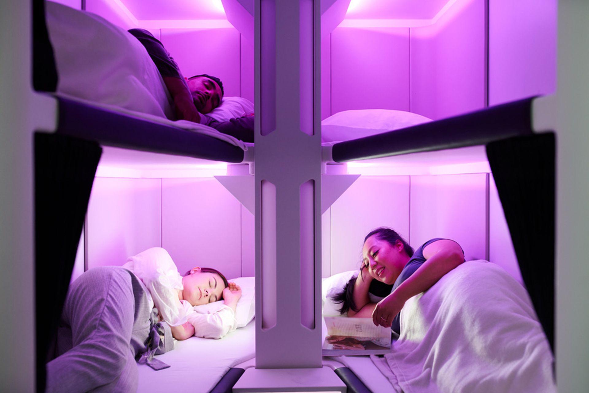 Economy Skynest, nový koncept spaní v ekonomické třídě. Foto: Air New Zealand