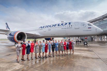 Předání nového A350-900 Aeroflotu. Foto: Flyrosta.com