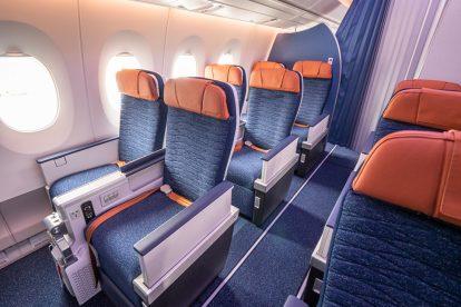 Třída economy premium v novém A350-900 Aeroflotu. Foto: Flyrosta.com