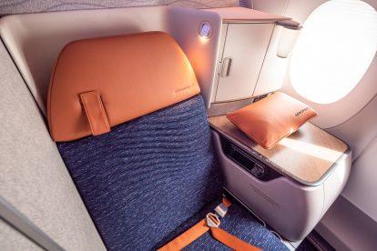 Byznys třída v A350-900 Aeroflotu. Foto: Flyrosta.com