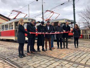 Křest opravené tramvaje T2. Foto: Daniel Šabík