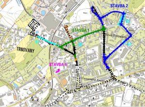 Chystané rozšíření trolejbusových tratích v Teplicích. Foto: Teplice