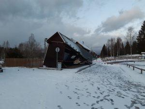Zastávka Nové Údolí po vichřici Sabine. Autor: Pavel Kosmata