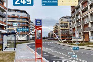 Zastávka Nový Zličín. Foto: Ropid