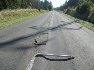 Stav silnice II/268 mezi Mimoní a Kuřívody. Foto: Liberecký kraj