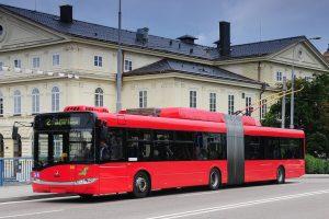 Trolejbus v Českých Budějovicích. Pramen: DPMČB