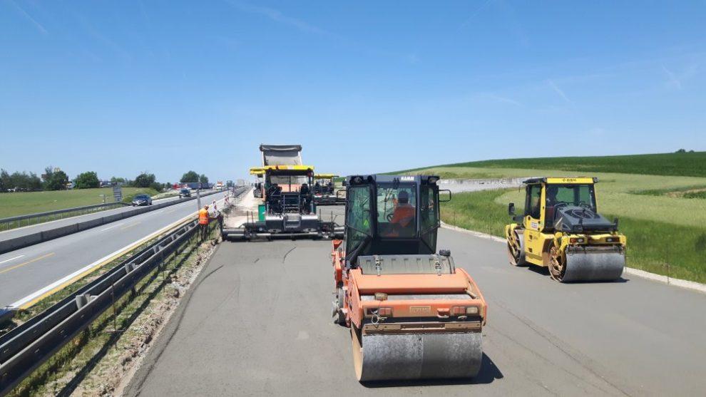 Modernizace dálnice D1. Foto: Strabag