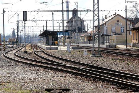Nádraží Soběslav už modernizací prošlo, pohled od severu. Pramen: Správa železnic
